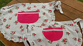 Iné oblečenie - Zástery pre mamku a dcérku - 7058756_
