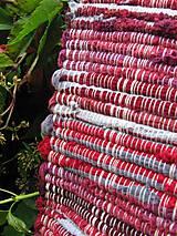 Úžitkový textil - KOBEREC tkaný bordovo šedý 70x200cm - 7058843_