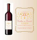 Etiketa na svadbné víno
