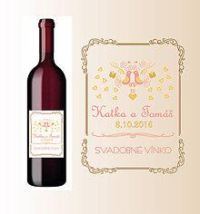 Darčeky pre svadobčanov - Etiketa na svadbné víno - 7055769_