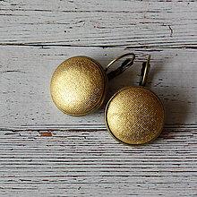 Náušnice - Náušnice na francúzskych háčikoch Glamour gold II. - 7055490_