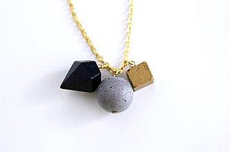 Náhrdelníky - Mini betónový mix náhrdelník - 7056907_