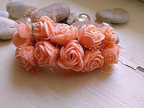 Ozdoby do vlasov - Francúzska spona-ruže marhuľkové - 7059026_