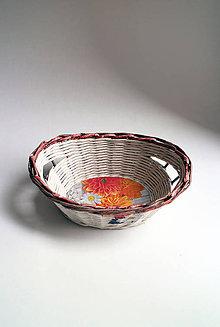 Košíky - Košík papierový - Margarétka | malý biely - 7057740_