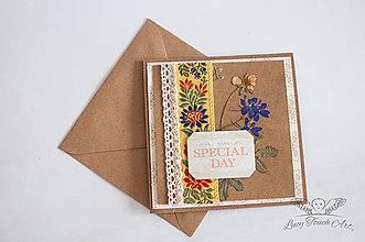 """Papiernictvo - Pohľadnica """" Folk Wedding"""" / na zákazku :) - 7056510_"""