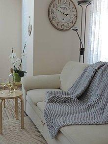 Úžitkový textil - Mega veľká pletená deka, prehoz - 7057095_