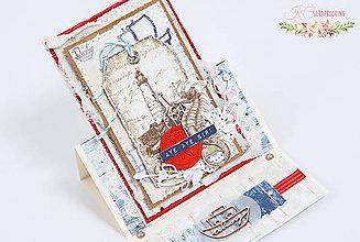 Papiernictvo - Pohľadnica v námorníckom štýle SKLADOM - 7061977_
