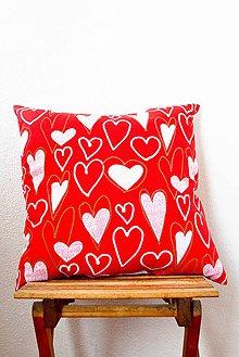 Úžitkový textil - _Srdiečkový... komplet... 40x40 cm - 7062661_
