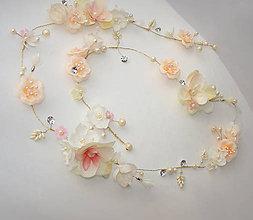 Ozdoby do vlasov - kvetová liana 100cm, Typ 143 - 7061385_