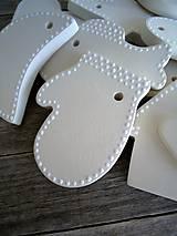 Dekorácie - Ozdoby vianočné biele veľké - sada White - 7060356_