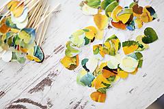 Papiernictvo - Svadobné konfety - výzdoba- watercolor - 7061337_