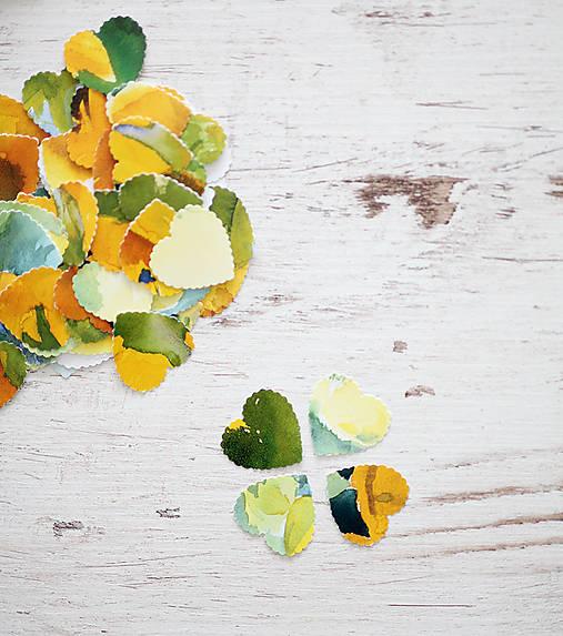 Svadobné konfety - výzdoba- watercolor