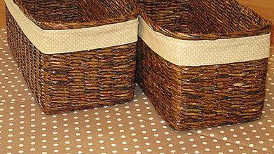 Košíky - Košíky-Ebenové s kvapkou mokka - 7060571_