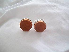 Šperky - Manžetové gombíky  - jelša kruh - 7060820_
