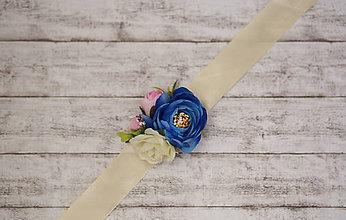 Náramky - Kvetinový náramok pre družičky - 7059263_