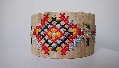 Náramky - Drevený šperk - Héj voľky nevoľky - 7061638_