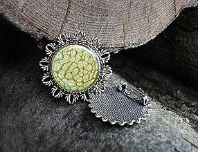 Odznaky/Brošne - Zelená brošňa - 7059564_