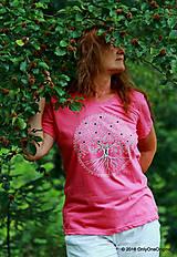 Tričká - Dámske tričko  maľované, etno STROMOKRUH - 7059726_