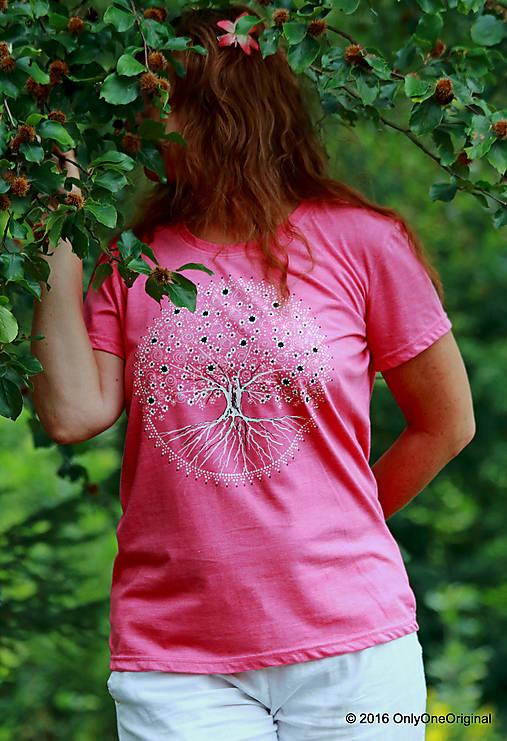 Dámske tričko  maľované, etno STROMOKRUH