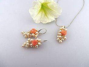 6d0c530fd Sady šperkov - kvitnúce perly - náušnice, prívesok perly koral - 7060594_