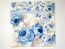 - Servítka K26- Modré ruže - 7060390_