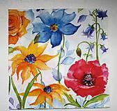 - Servítka K106 - Poľné kvety -akvarel - 7060628_