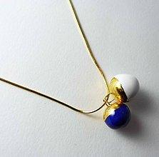 Náhrdelníky - Tana šperky - keramika/zlato - 7062528_