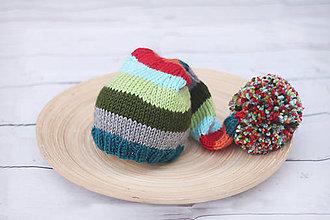 Detské čiapky - škriatkovská čiapočka - 7062517_
