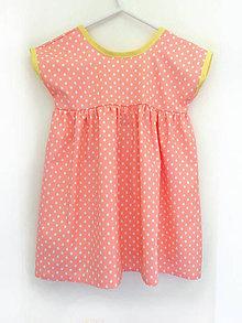 """Detské oblečenie - Low Back šaty krátke """" Zmrzlinové """" - 7061319_"""