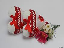 - Srdiečka - bielo červené - 7059554_