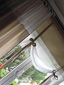 Úžitkový textil - Záves a roletka/záclonka Natur - 7062738_