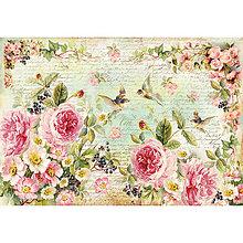Papier - Ryžový papier Stamperia č.DFS356 - 48x33 cm, ihneď - 7061246_