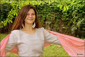 Šaty - Ľanové šaty Bielka prírodné - 7063897_