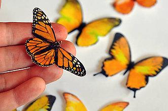 Drobnosti - Nové jedlé motýliky žlté (6 ks) - 7065792_