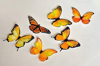 Drobnosti - Nové jedlé motýliky žlté (6 ks) - 7065794_