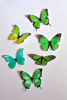 Drobnosti - Nové jedlé motýliky zelené (6 ks) - 7065838_