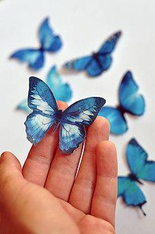 Drobnosti - Nové jedlé motýliky modré (6 ks) - 7065904_