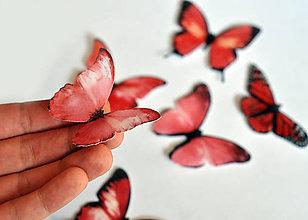 Drobnosti - Nové jedlé motýliky ružové (6 ks) - 7065986_