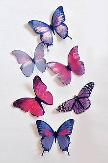 Drobnosti - Nové jedlé motýliky fialové (6 ks) - 7066099_