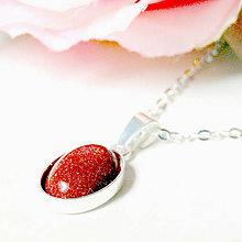 Náhrdelníky - Simple Sandstone Silver 925 / Náhrdelník s oválnym príveskom slnečného kameňa - Striebro Ag 925 - 7063214_