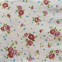 Papier - S760 - Servítky - ružičky, ruže, roses, kvietky - 7063754_