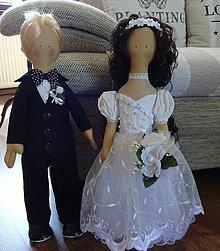 Bábiky - Svadobný párik - 7063461_