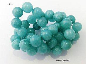 Korálky - Amazonit 8 mm - modrý - 7066098_