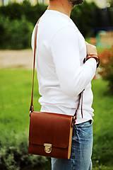 Iné tašky - Pánska taška MESSENGER BROWN - 7065322_