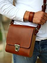 Iné tašky - Pánska taška MESSENGER BROWN - 7065323_