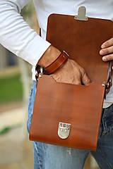 Iné tašky - Pánska taška MESSENGER BROWN - 7065324_