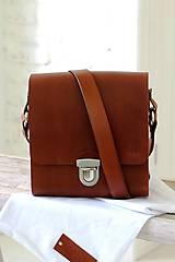 - Pánska taška MESSENGER BROWN - 7065325_