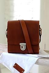 Iné tašky - Pánska taška MESSENGER BROWN - 7065346_