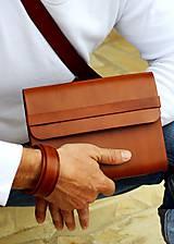 Papiernictvo - Pánsky kožený zápisník / karisblok BROWN A5 (hnedý) - 7065491_