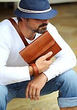 Papiernictvo - Pánsky kožený zápisník / karisblok BROWN A5 (hnedý) - 7065496_